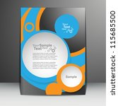 circle vector flyer design | Shutterstock .eps vector #115685500