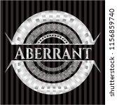 aberrant silver badge or emblem | Shutterstock .eps vector #1156859740