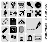 set of 22 business high quality ... | Shutterstock .eps vector #1156859929