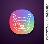winking robot emoji app icon....