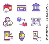 e payment color icons set....   Shutterstock .eps vector #1156863973