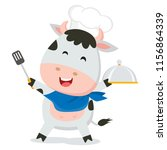 cute cow chef | Shutterstock .eps vector #1156864339