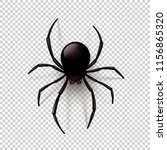 black spider with transparent... | Shutterstock .eps vector #1156865320