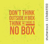 don t think outside the box.... | Shutterstock .eps vector #1156865503