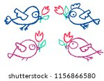 two pairs of  ute little hand... | Shutterstock .eps vector #1156866580