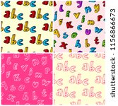 colorful hand drawn letters... | Shutterstock .eps vector #1156866673