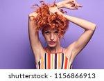 fashion portrait beautiful sexy ... | Shutterstock . vector #1156866913