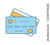 nfc credit card color icon....   Shutterstock .eps vector #1156870636