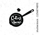 cooking classes. hand written... | Shutterstock .eps vector #1156874893