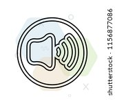 volume icon vector can be used... | Shutterstock .eps vector #1156877086