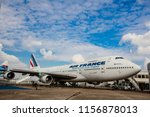 airport le bourget  france  ... | Shutterstock . vector #1156878013