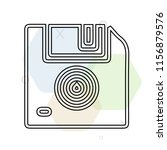 floppy disk icon vector can be... | Shutterstock .eps vector #1156879576