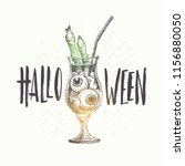 halloween vector hand drawn... | Shutterstock .eps vector #1156880050
