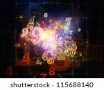 digital splash series. artistic ... | Shutterstock . vector #115688140