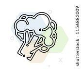 broccoli icon vector can be... | Shutterstock .eps vector #1156882009