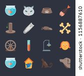 set of 16 icons such as dog ... | Shutterstock .eps vector #1156887610