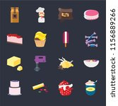 set of 16 icons such as sugar ...