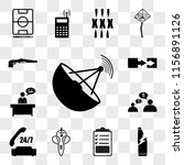 set of 13 transparent icons... | Shutterstock .eps vector #1156891126