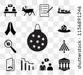 set of 13 transparent icons... | Shutterstock .eps vector #1156891246