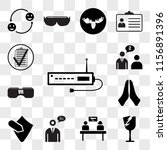 set of 13 transparent icons... | Shutterstock .eps vector #1156891396