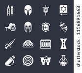 set of 16 icons such as poison  ...