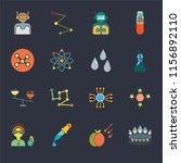 set of 16 icons such as burner  ...