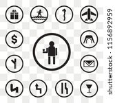 set of 13 transparent icons... | Shutterstock .eps vector #1156892959
