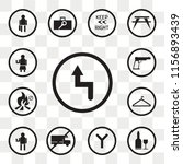 set of 13 transparent icons... | Shutterstock .eps vector #1156893439