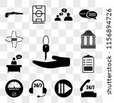 set of 13 transparent icons... | Shutterstock .eps vector #1156894726
