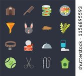 set of 16 icons such as... | Shutterstock .eps vector #1156895593