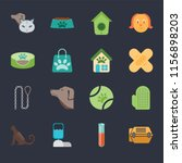 set of 16 icons such as animal...