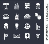 set of 16 icons such as banner  ...