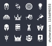 set of 16 icons such as bible ...