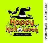happy halloween colorful design ... | Shutterstock .eps vector #1156898530