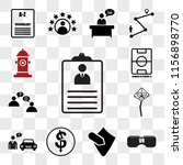 set of 13 transparent icons... | Shutterstock .eps vector #1156898770