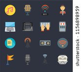 set of 16 icons such as mailing ...   Shutterstock .eps vector #1156898959