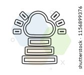 heaven icon vector can be used... | Shutterstock .eps vector #1156899376