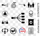 set of 13 transparent icons... | Shutterstock .eps vector #1156900273