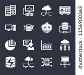 set of 16 icons such as laptop  ...