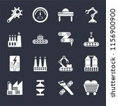 set of 16 icons such as coal ...