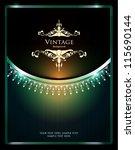 vintage ornate card design for... | Shutterstock .eps vector #115690144