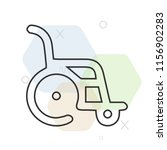wheelchair icon vector can be... | Shutterstock .eps vector #1156902283