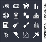 set of 16 icons such as axe ...