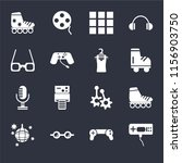 set of 16 icons such as game...