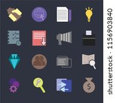 set of 16 icons such as invest  ... | Shutterstock .eps vector #1156903840