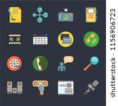 set of 16 icons such as news...