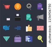 set of 16 icons such as... | Shutterstock .eps vector #1156906750
