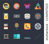set of 16 icons such as chains  ...