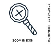 zoom in icon vector isolated on ...   Shutterstock .eps vector #1156910623