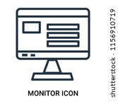 monitor icon vector isolated on ... | Shutterstock .eps vector #1156910719